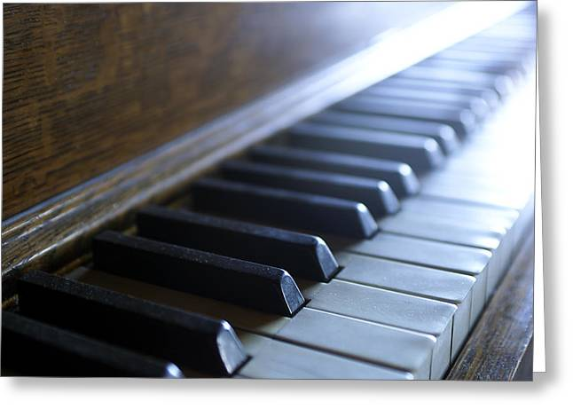 Piano Keys Greeting Cards - Piano keys Greeting Card by Jon Neidert
