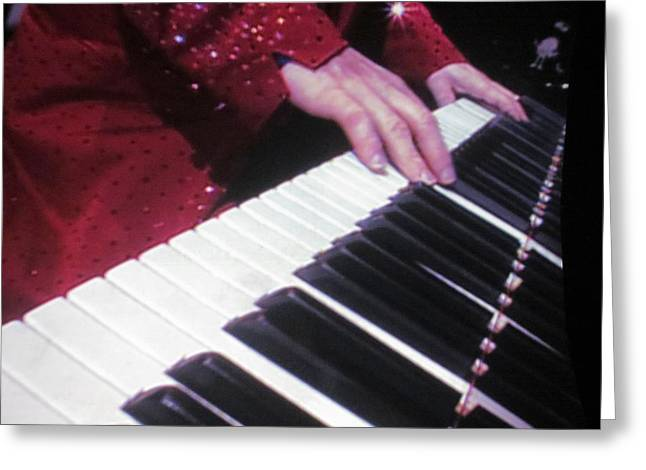 Elton John Photographs Greeting Cards - Piano Man at work Greeting Card by Aaron Martens