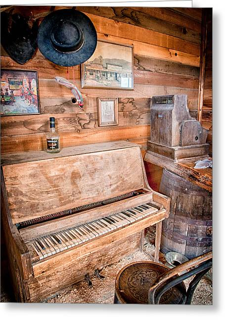 Eastern Sierra Greeting Cards - Piano Man Greeting Card by Cat Connor