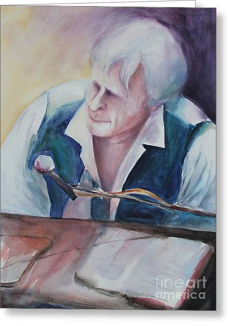 Player Greeting Cards - Piano Man Greeting Card by Kyong Burke