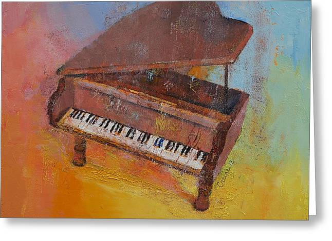Musica Greeting Cards - Piano Greeting Card by Michael Creese