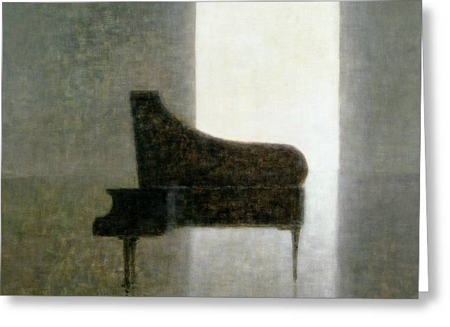Piano Room 2005 Greeting Card by Lincoln Seligman