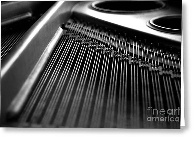 Piano Strings Greeting Card by Tim Hester