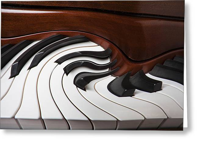 Piano Keys Greeting Cards - Piano Surrlistic Greeting Card by Garry Gay