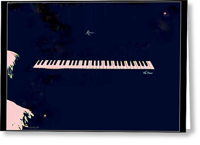 Piano Greeting Card by YoMamaBird Rhonda