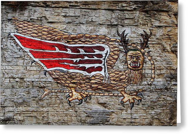 Piasa Bird Greeting Card by John Freidenberg