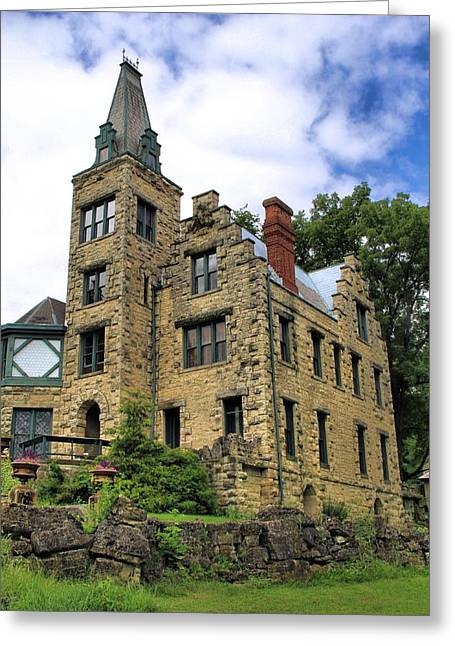 Old House Photographs Photographs Greeting Cards - Piatt Castle Greeting Card by Dan Sproul