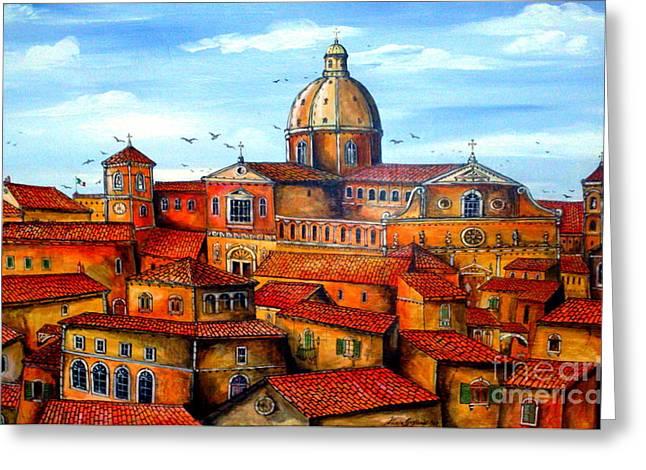 Piazza Armerina Sicily Greeting Card by Roberto Gagliardi