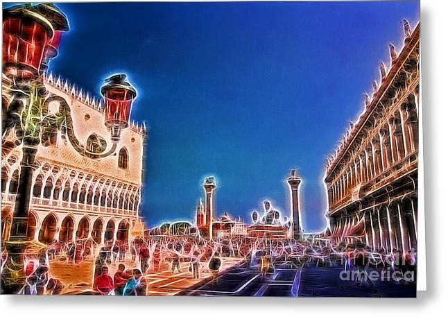 Finr Art Greeting Cards - Piazza San Marco Greeting Card by Allen Beatty