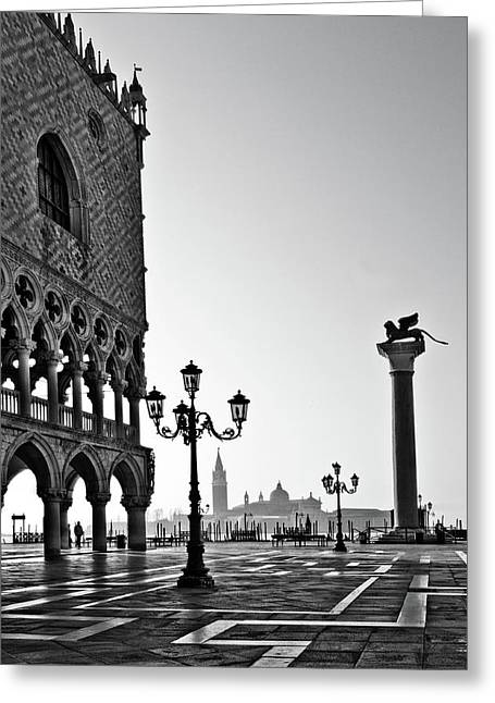 Town Square Greeting Cards - Piazza San Marco Greeting Card by Marion Galt
