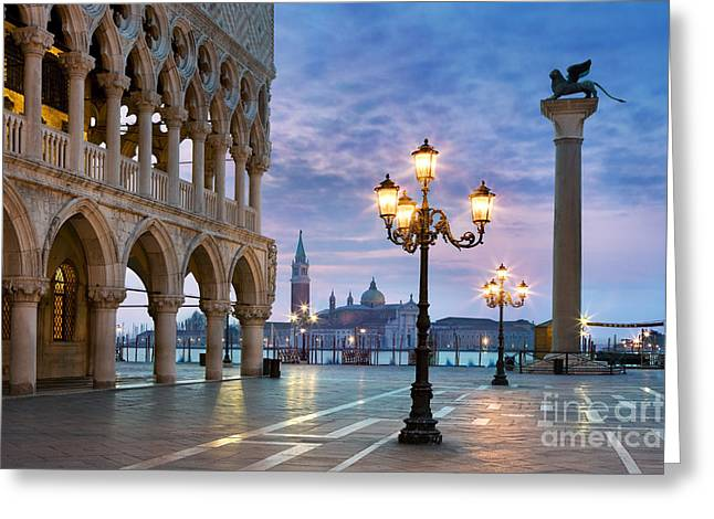 Doge Greeting Cards - Piazza San Marco - Venice Greeting Card by Rod McLean
