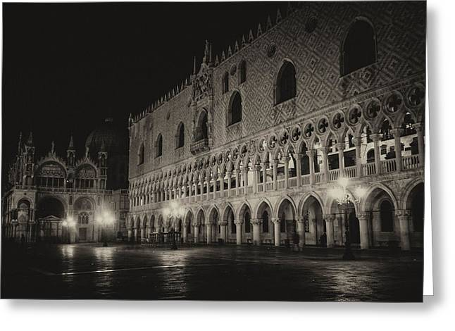 Campanile Di San Marco Greeting Cards - Piazza San Marco Venice Greeting Card by Zina Zinchik