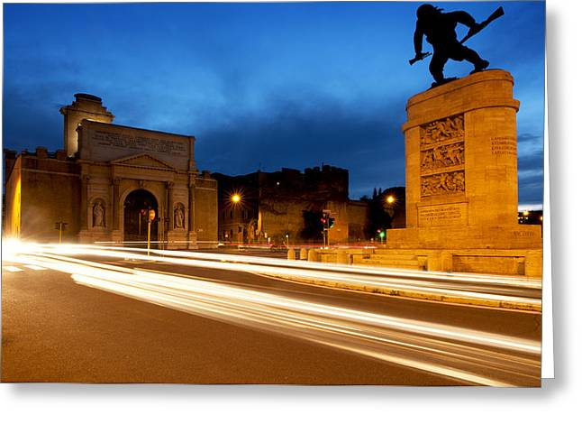 Breaching Greeting Cards - Piazzale di Porta Pia Greeting Card by Fabrizio Troiani