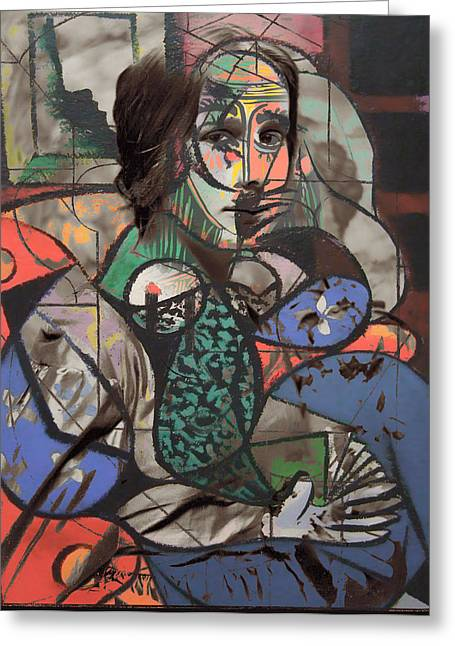 Mix Medium Photographs Greeting Cards - Picasso And Me  Greeting Card by Jerry Cordeiro