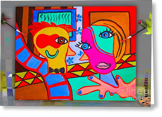 Picasso Greeting Cards - Picasso Painting Greeting Card by Marvin Blaine