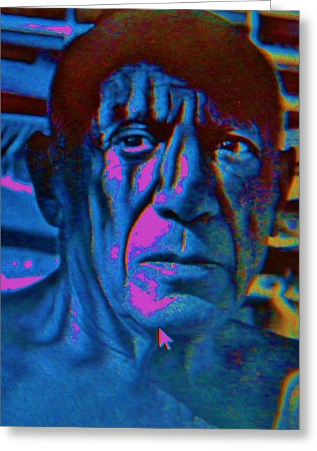 Pablo Picasso Greeting Cards - PICASSO   Pop Art Greeting Card by Gunter  Hortz