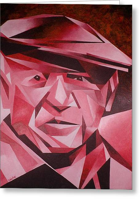 Pablo Greeting Cards - Picasso Portrait The Rose Period Greeting Card by Tracey Harrington-Simpson