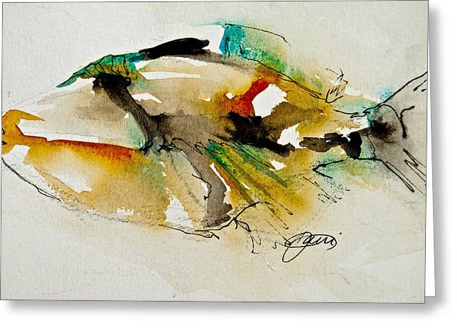 Tropics Mixed Media Greeting Cards - Picasso Trigger Greeting Card by Jani Freimann