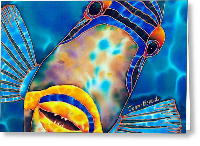 Picasso Triggerfish Greeting Card by Daniel Jean-Baptiste