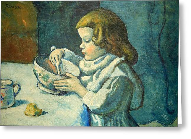 Pablo Picasso Photographs Greeting Cards - Picassos Le Gourmet Up Close Greeting Card by Cora Wandel