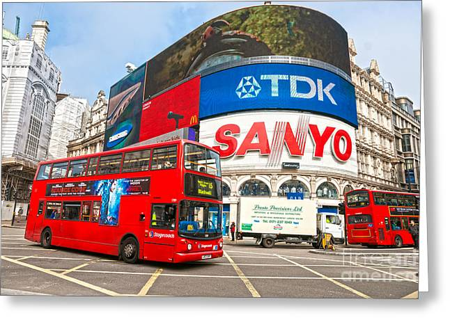 Piccadilly Circus - London - Uk Greeting Card by Luciano Mortula