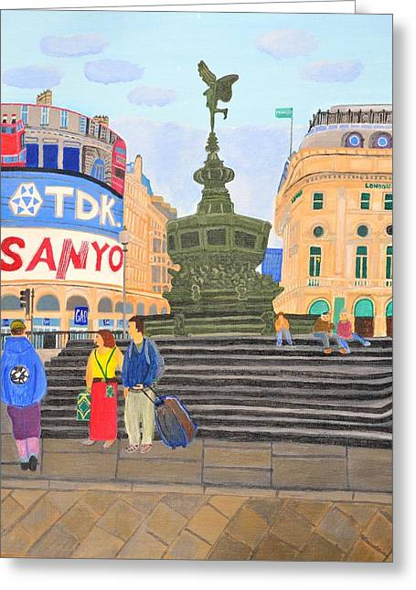 London- Piccadilly Circus Greeting Card by Magdalena Frohnsdorff