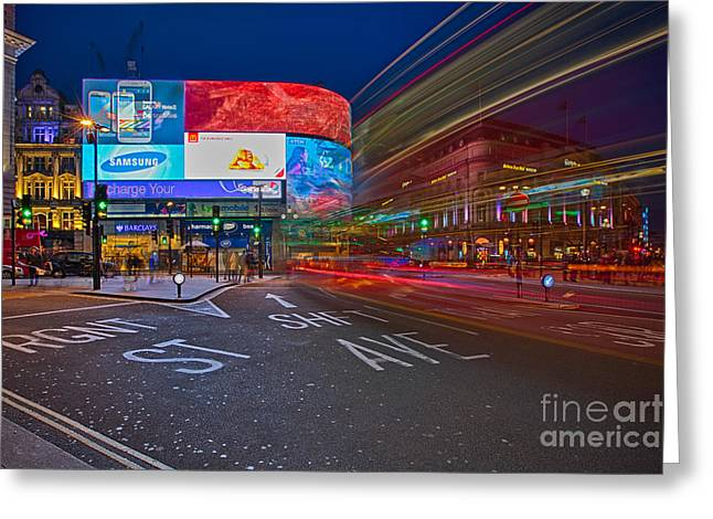 Pete Reynolds Greeting Cards - Piccadilly Circus Greeting Card by Pete Reynolds