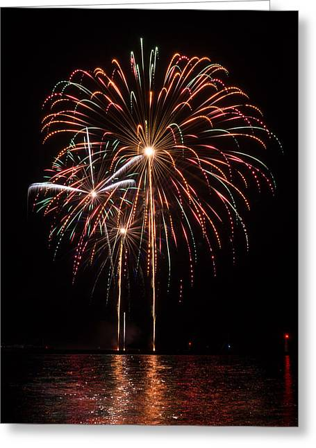Rockets Red Glare Greeting Cards - Pick A Color Greeting Card by Bill Pevlor