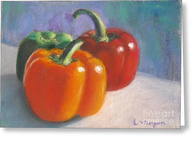 Food And Beverage Pastels Greeting Cards - Pick a Pepper Greeting Card by Laurie Morgan