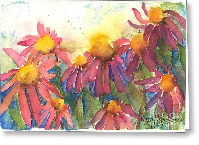 Wild Orchards Paintings Greeting Cards - Pick Me Pick Me Greeting Card by Sherry Harradence
