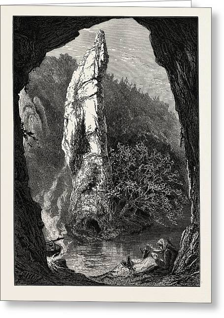 Pickering Tor, Dove Dale, The Dales Of Derbyshire Greeting Card by English School