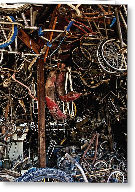 Rusted Cars Greeting Cards - Pickers Place Hang Em High Greeting Card by Lee Craig