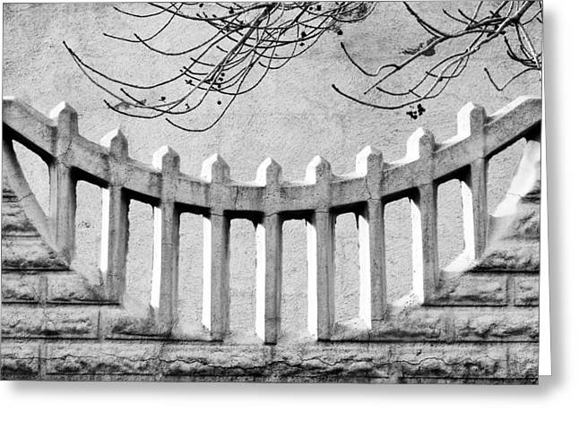 Cast Concrete Greeting Cards - Picket Moon - Fence - Wall Greeting Card by Nikolyn McDonald