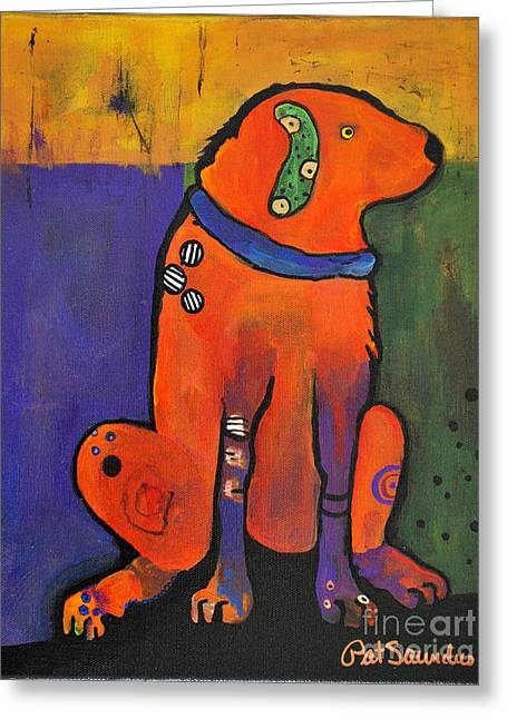 Pat Saunders-white Greeting Cards - Pickle Dog Greeting Card by Pat Saunders-White