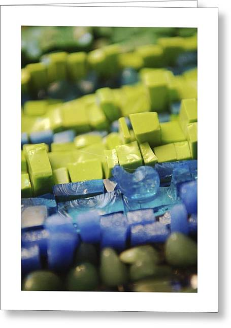 Glass Beads Glass Art Greeting Cards - Pickled Green Greeting Card by Genna Wise