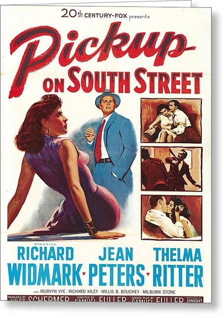 1953 Movies Greeting Cards - Pickup on South Street - 1953 Greeting Card by Nomad Art And  Design