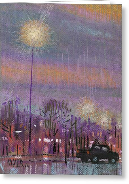 Plein Air Pastels Greeting Cards - Pickup Parking Greeting Card by Donald Maier