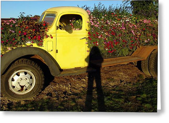 Sauvie Island Greeting Cards - Pickup Planter Greeting Card by Jeri lyn Chevalier