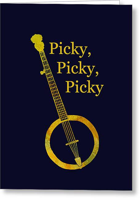 Picky Banjo Greeting Card by Jenny Armitage