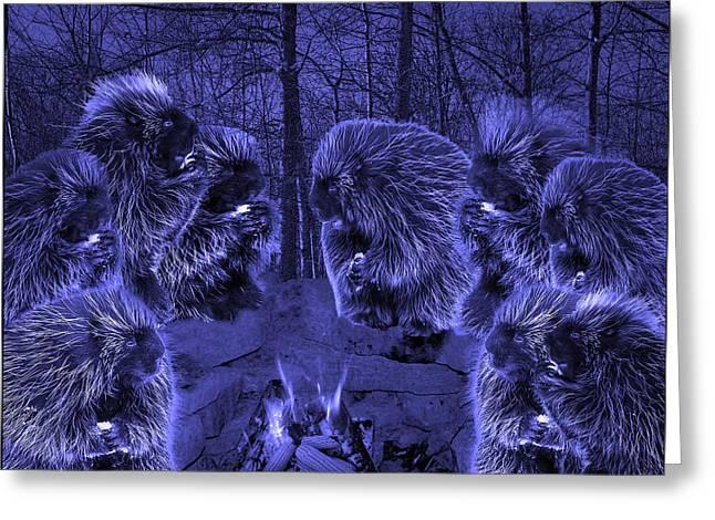 Picky Eaters In The Blue Moonlight Greeting Card by LeeAnn McLaneGoetz McLaneGoetzStudioLLCcom