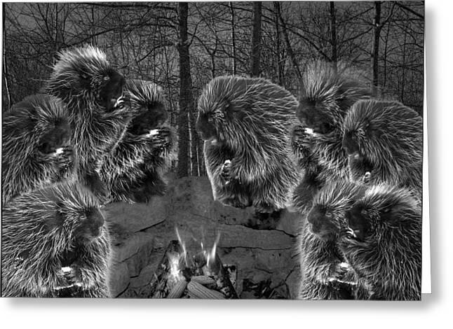 Picky Eaters In The Moonlight Greeting Card by LeeAnn McLaneGoetz McLaneGoetzStudioLLCcom