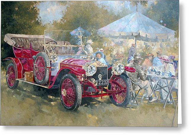 Al Fresco Greeting Cards - Picnic In Ghost Oil On Canvas Greeting Card by Peter Miller
