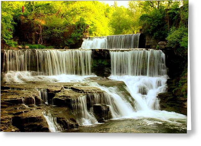 Recently Sold -  - Keuka Greeting Cards - Picnic Spot Greeting Card by Glenn Curtis