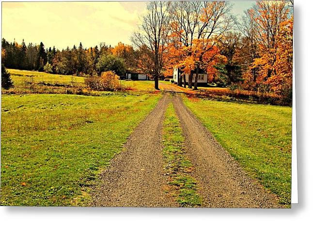 Nova Scotia Photographers Greeting Cards - Pictou County Nova Scotia Farm Greeting Card by Larry Matthews