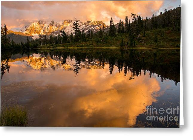 Print On Canvas Greeting Cards - Picture Lake 1 Greeting Card by Sabine Edrissi