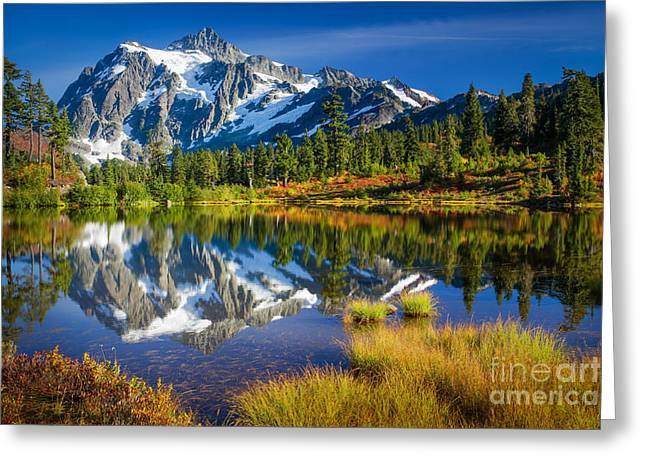 Picture Lake Greeting Card by Inge Johnsson