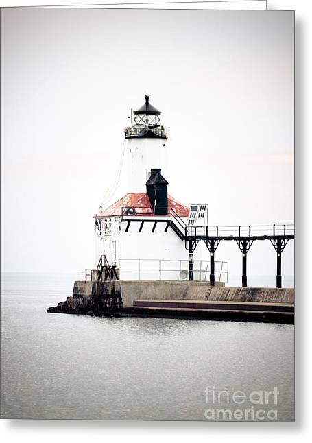 Lighthouse Prints Greeting Cards - Picture of Michigan City Lighthouse Greeting Card by Paul Velgos
