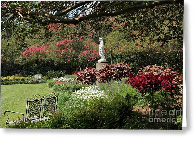 Garden Statuary Greeting Cards - Picture Perfect Garden Greeting Card by Theresa Willingham