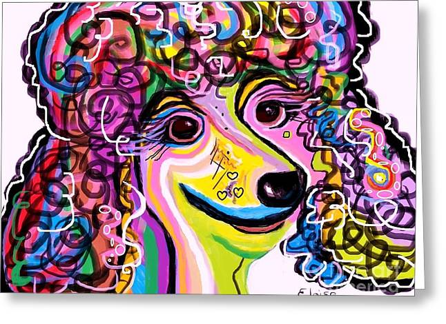 Picture Perfect Poodle  Greeting Card by Eloise Schneider