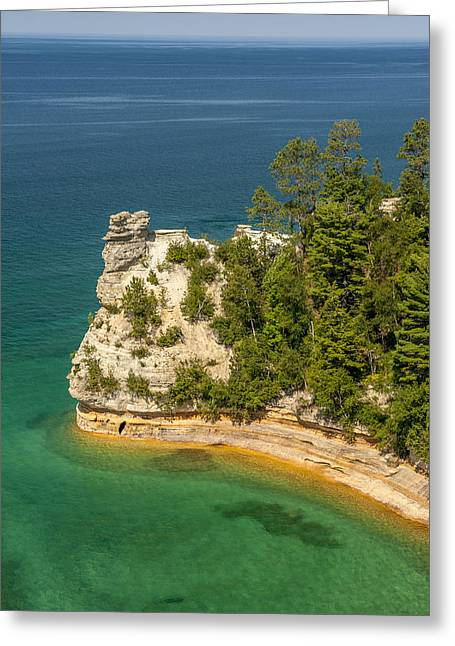 Superior Greeting Cards - Pictured Rocks National Lakeshore Greeting Card by Sebastian Musial